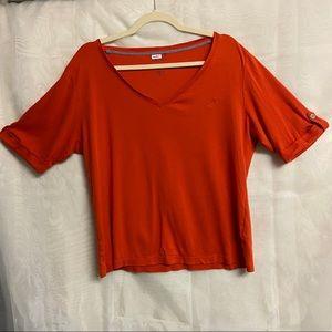 🛍3/$25 Nautica orange short-sleeved top